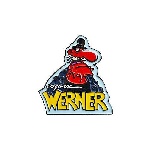 Werner - Pins - Anstecker - 'Präsi' - Brösel - ca. 3 cm (Metall-achterbahn)