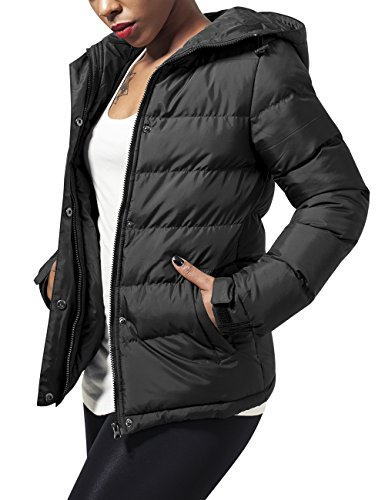 Urban Classics Ladies Bubble Jacket, Giacca Donna, Nero (Black 7), 44