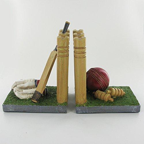 Cricket Buchstützen Einzigartige Neuheit Regal Tidy für Bücher, DVDs, Vinyl & Sporting Goods ideal Geschenk für Cricket Fans