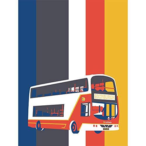 Wee Blue Coo LTD Edinburgh Transport Bus Unframed Wall Art Print Poster Home Decor Premium -