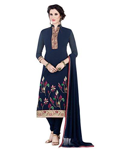 Indisch Salwar Kameez Frau Nicht abgesteppt kleid partywear Nicht Gewunden Nur Material Mirchi Fashion (Kameez Krepp Salwar)