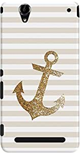 DailyObjects Glittering Anchor In Gold Case For Sony Xperia T2 Ultra