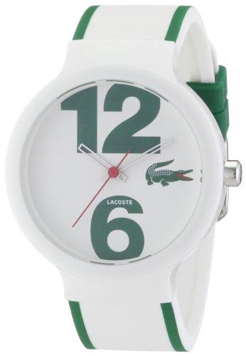 Lacoste 2010543 - Reloj analógico de Cuarzo Unisex con Correa de Silicona, Color Blanco