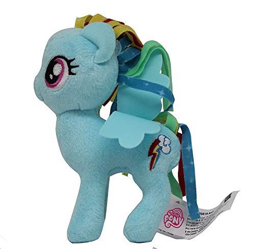 ferd 12cm Plüschfigur, Kuscheltier für Kinder, Mädchen und Jungen, zum Sammeln, Kuscheln und Spielen (Rainbow Dash, blau) ()