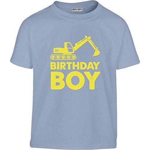 Kinder Geburtstag - Birthday Boy Bagger Kleinkind Kinder T-Shirt - Gr. 86-128 4T Hellblau (5. Geburtstag-kleinkind-t-shirt)