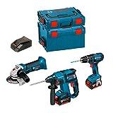 Kit Bosch PSL3P3: GWS 18 V-LI + GBH 18 V-EC + GSB 18-2-LI (2 Batterien x 5,0 Ah + L-Boxx Koffer 136 + L-Boxx Koffer 238 +Ladegerät AL1860CV)