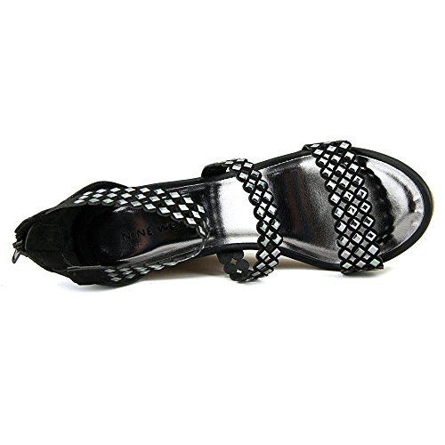Nine West Fancyoner 7 Stoff Keilabsätze Sandale Black
