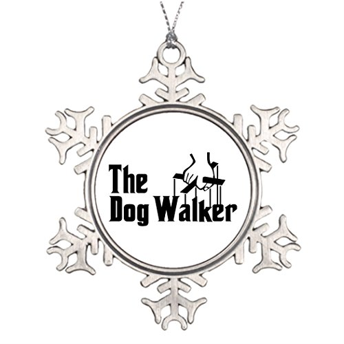 Best Friend Snowflake Ornaments The Dog Walker Hand Outdoor Tree Decorations People