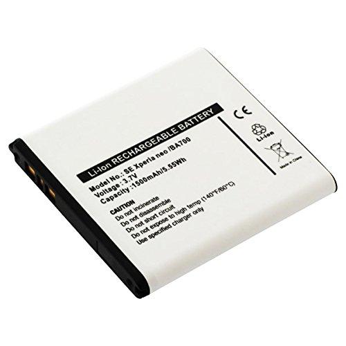 CELLONIC® Premium Akku für Sony Xperia E / E Dual / Tipo / Tipo Dual / Miro / Ray / Neo / Neo V / Pro (1500mAh) BA700 Ersatzakku Batterie Wechselakku