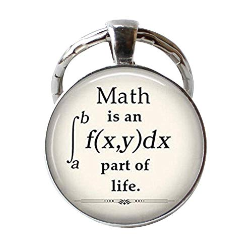 Llavero con colgante de matemáticas, regalo para profesor de matemáticas