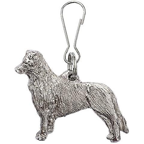 Collie de la frontera (de pie) Hecho en Reino Unido Artístico Perro Cremallera Colección