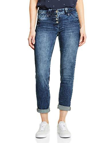Cecil Damen 371967 Scarlett Straight Jeans, mid Blue wash, 36W/32L