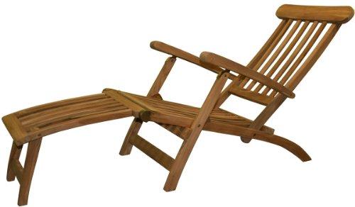 teak24 Deckchair aus massiv Teak Holz klappbar 9715
