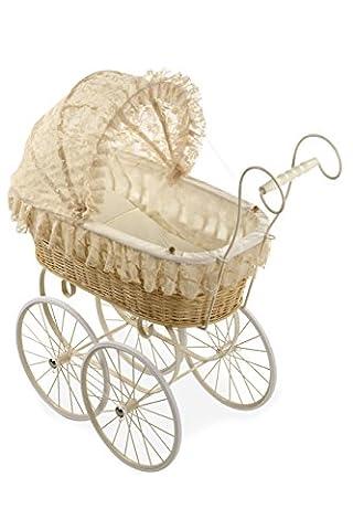 Arias 69.5 x 40.7 x 28 cm Elegance Doll Wicker Cart