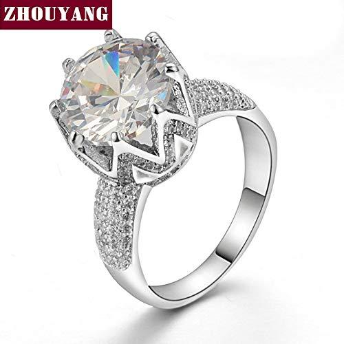 Zuxianwang l'anello argento moda wedding anello di fidanzamento cubic zirconia gioielli per donne gioielli,10