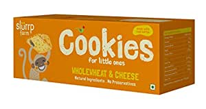 Slurrp Farm Cookies, Wholewheat and Cheese, 75g