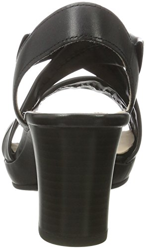 Gabor Comfort, Sandales à Talons Femme Noir (schwarz A.tp)