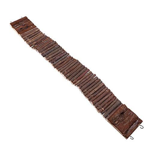 2 Größen Haustier Leiter Holz Hängeleiter Hamster Treppen Hängebrücke Schaukel Käfig Dekoration Spielzeug für Vogel Hamster Nagetier(7cm*55cm)