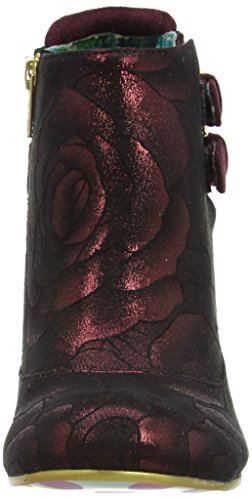 Irregular Choice Think About It, Bottes Classiques femme Rouge - Red (Red Floral)