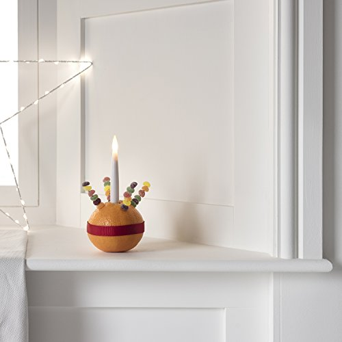 Lights4fun - Juego de 10 Velas LED Finas a Pilas en Cera Blanca para Candeleros