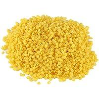 3paquetes de 100% orgánico Natural amarillo cera de abejas Pellets cosmético DIY Homemade Bálsamo para Labios lociones cuerpo crema jabón Making ingredientes suministros 50G/1.76oz por paquete con bolsa de plástico