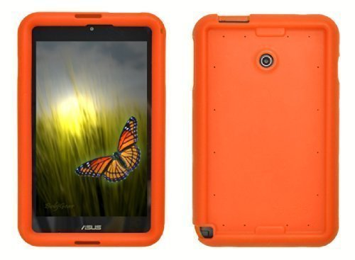 Bobj Silikon-Hulle Heavy Duty Tasche fur ASUS VivoTab Note 8 Tablette M80TA - BobjGear Schutzhulle (Orange)