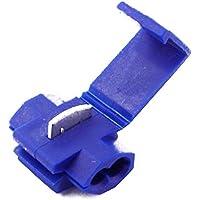 Trifycore Scotch Bloquear estreñimiento Duradero - Splice Conectores terminales Azul 50Pcs, Automotriz