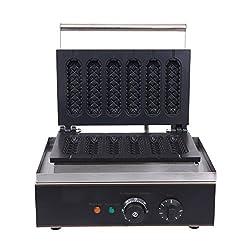 Iglobalbuy Profi Waffelgerät,Kommerziell 1500W Elektro Cooking Waffeleisen Waffelautomat Maschine