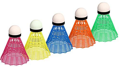 Schreuders Sport Avento PVC Volants de Badminton en Tube (5pièces), Mixte, Avento PVC, Fluorescent Yellow/Red/Fluorescent Orange/Fluorescent Pink/Blue, Taille Unique