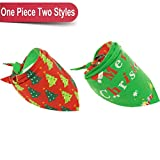 BINGPET Christmas Dog Bandana Reversibile Pet Sciarpe Cute Triangle Bavaglini Fazzoletto per Pet