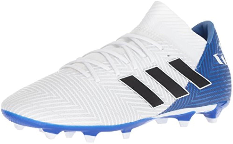 Adidas Men's Nemeziz Messi 18.3 Firm Ground Soccer scarpe, bianca nero Football blu, 7.5 M US | Per La Vostra Selezione  | Uomo/Donna Scarpa