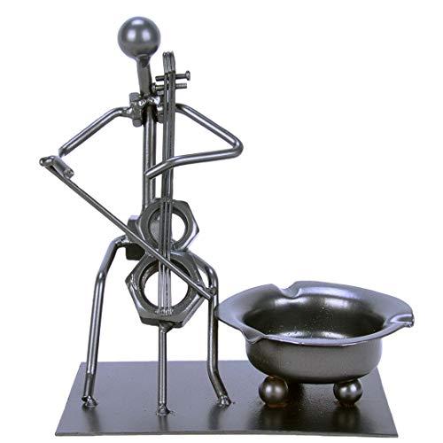 Kepfire Jahrgang Kreativ Cello Metall Aschenbecher Eisen Menschen Band Figurine Kunst Aschenbecher Studie Wohnzimmer Kaffee Büro Deko