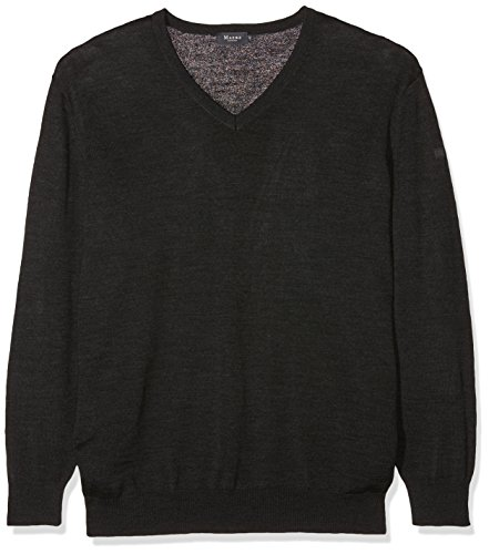 Maerz Merinowolle Pull-over Col V Manches longues Homme Gris - Grau (Anthrazit 591)