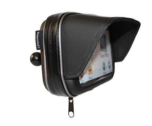 RiderMount Wasserdicht Sonnenschutz 12,7cm GPS SatNav Schutzhülle mit RAM Typ 2,5cm Ball Mount für Garmin TomTom 12,7cm -