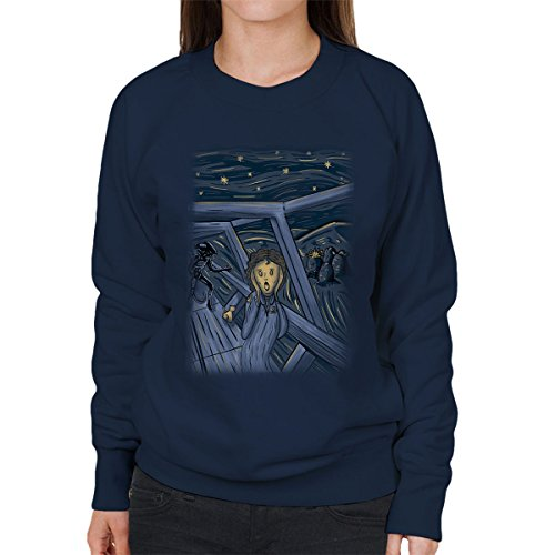 Aliens Space Scream Women's Sweatshirt Navy blue