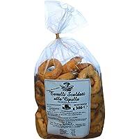 Taralli tradicional de Apulia con Cebollas|Producto horneado ideal como snack salado Producto artesanal típico