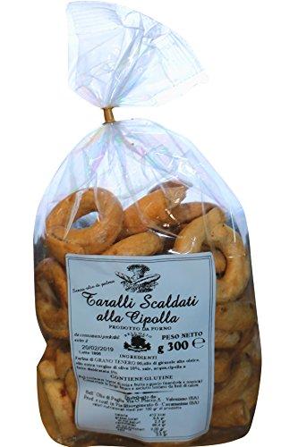 Taralli Tradizionali Pugliesi alla Cipolla | Prodotto da forno ideale come snack salato | Prodotto tipico pugliese artigianale