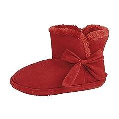 caa92ba9579c13 Lora Dora Womens Slipper Booties Warm Lined Slipper Boots