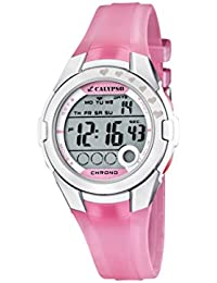 Calypso - K5571/2 - Montre Fille - Quartz Digitale - Eclairage / Chronomètre - Bracelet Plastique Rose