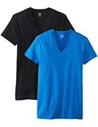 Cotton Stretch 2 Pack V-Neck T-Shirt