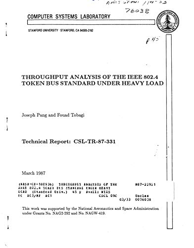 Throughput analysis of the IEEE 802.4 token bus standard under heavy load (English Edition)