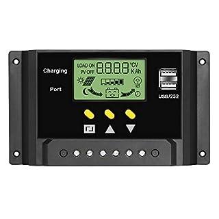 ALLPOWERS 30A Solar Ladegerät Controller 12V/24V Solar Panel Batterie Intelligente Regler mit USB Port Display