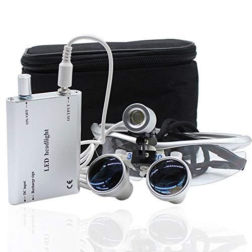 LED Headlight Dental 3.5X 420mm Dental Surgical Binokularlupen Kopflupe Lupenbrille Loupes Portable Head light
