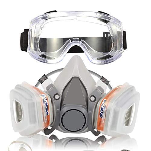 Respirador Máscara Gas Reutilizable Gafas Seguridad