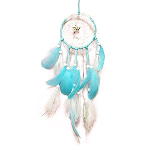 (Trada Dekoration Lichter, Traumfänger 2 Meter 20LED Beleuchtung Mädchen Raum Layout Wind Glocke Ornamente Schlafzimmer Kleine Laternen Romantische Dekorative Lichter (Blau))