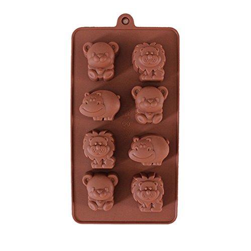 Fantasyday® stampo in silicone per dolci a forma di carina animali, 1 pezzi silicone muffin sapone handmade stampi per cubetti di ghiaccio, biscotti, tortini, cioccolato, dolci - silicone antiaderente