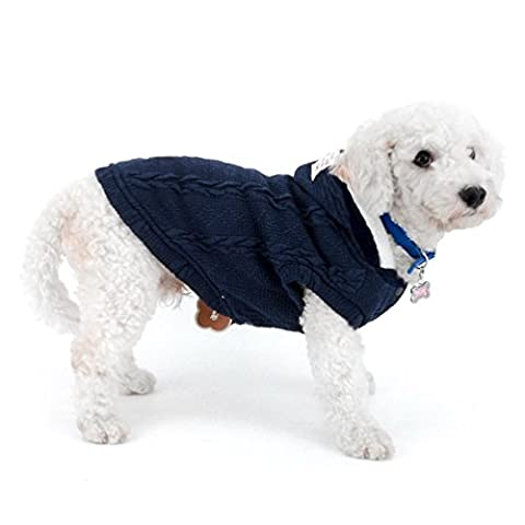 Selmai Petit Chien pulls Manteau à capuche en polaire doublée en tricot classique chaud doux de Noël Chiot Cat Doggie Chaton Chien Tasse de thé Yorkshire tenues de chihuahua Vêtements Apparel