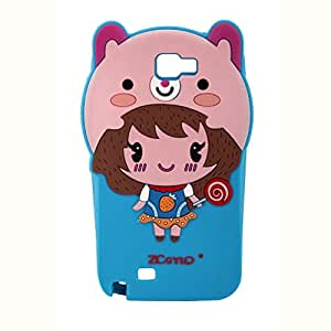 Cute Cartoon Design Soft Silicone Back Case Cover For Samsung Galaxy Note 2 N7100