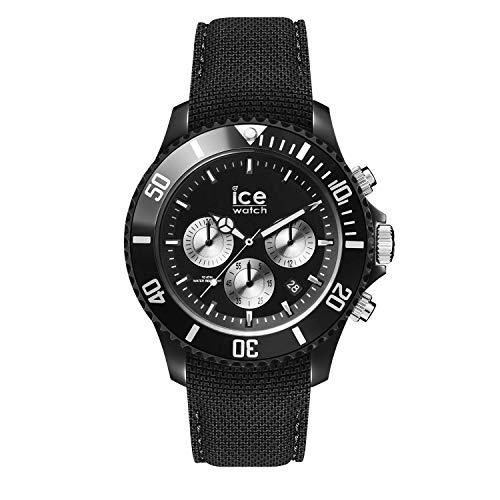 Ice-Watch - ICE urban Black Silver - Montre noire pour homme avec bracelet en silicone - Chrono - 016304 (Large)