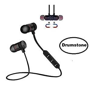 DRUMROAR Wireless Bluetooth Headphone Magnet Earphone for Sport, Running,Gyming with 4.1 Technology with Mic Compatible with Android Phone and iOS